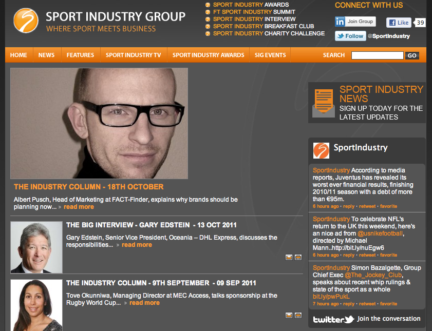 Sport Industry Group Albert Pusch